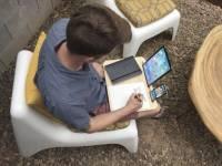 極富理念的平板 手機托架,開創一個固定空間能夠讓你記事或是做想要做的事