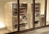 """太時髦了...以假亂真的 """"販賣機"""" 木雕作品"""