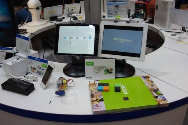 CEATEC Japan 2015 : 利用藍牙溝通、並可藉由簡單的可程式化開發模組 MESH
