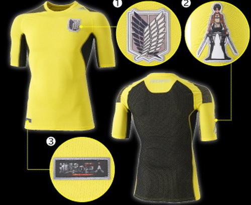 愛迪達推出客製化《進擊巨人》上衣產品