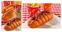 東京迪士尼樂園推出新奇菜色「可樂口味的熱狗堡」