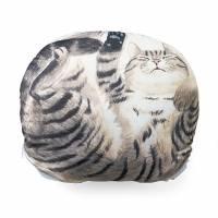 冬天來了貓就來了...,圓滾滾貓咪軟抱枕