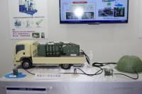 或許公家機關的防颱單位需要考慮一下, NEC 展示車載型淨水處理系統