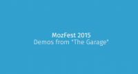 MozFest 2015 車庫展示:體現 Open Web 的無限可能