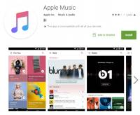 不限於 iOS , Apple Music 於 Play Store 上架