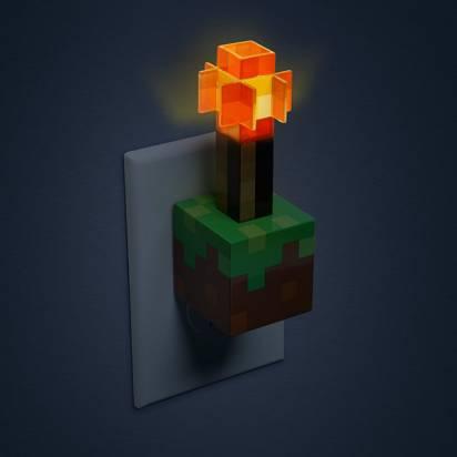 《當個創世神》紅石火把小夜燈兼USB充電器