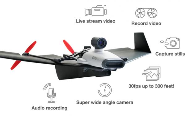 可以用 Cardboard 觀看即時飛行影像的遙控紙飛機, PowerUP 與 Parrot 發表 PowerUP FPV