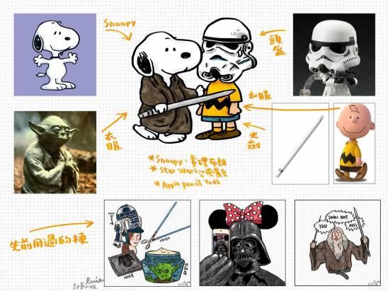 【昨日新聞淺談插畫梗分享】:12 月有星際大戰第七部曲、Snoopy 3D 電影、iPad Pro、Apple Pencil...