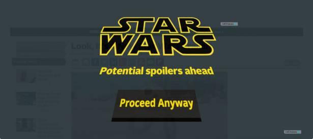 今日新聞淺談:怕被雷?Star Wars 星際大戰專屬防劇透工具