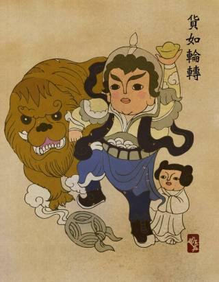 當 Star Wars 星際大戰中的角色遇上了中國新年