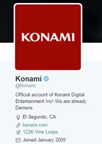 Konami在官方Twitters帳號上稱自己為Demons