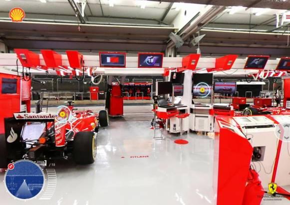 想了解法拉利F1賽車後端的準備與作業嗎?殼牌石油與他們合作推出了線上虛擬實境