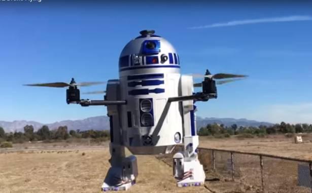 第一台會飛天的R2-D2四軸飛行器