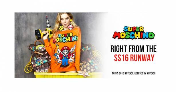 知名服裝品牌Moschino與超級瑪利歐合作,推出Super Moschino系列服飾