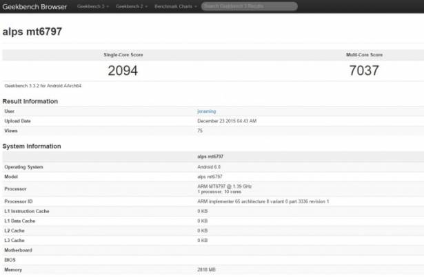 Helio X20 十核心效能到底如何? GeekBench 資料庫已有成績
