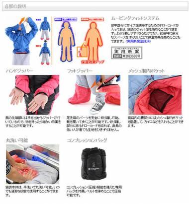 最新進化的人型睡袋