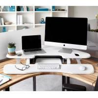 系統化的電腦桌讓你站坐換位置都方便