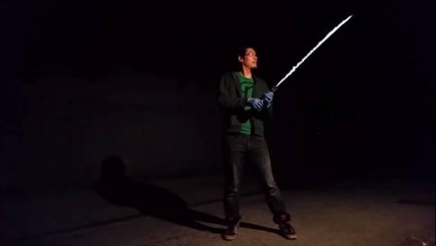 自製火焰光劍