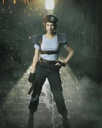 模特兒Julia Voth完整cosplay重現《惡靈古堡HD重製版》中的Jill造型