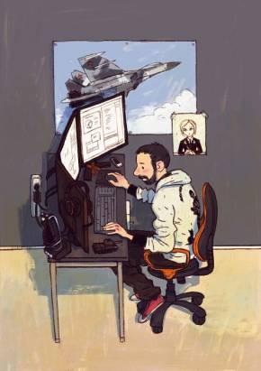 插畫家筆下的設計師桌子,你接近哪一張?