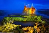 猶如異世界的奇觀異景,飛噴泉