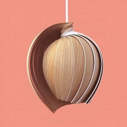 有洋蔥概念又像貝殼設計的燈