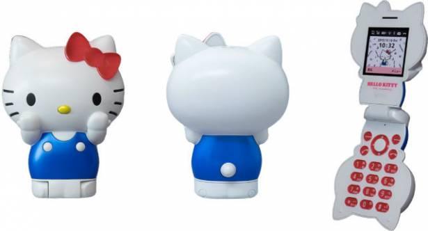 造型非常驚人的 Hello Kitty 貓型手機,春季發售!