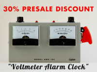 指針電壓表造型鬧鐘