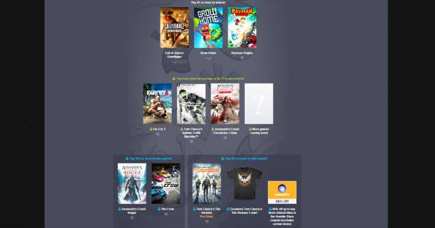 Humble Bundle目前正在進行Ubisoft的遊戲特賣