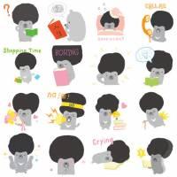 WeChat 結合台灣文創推出黑熊 duma 貼圖,並鼓勵創插圖作者發表原創作品
