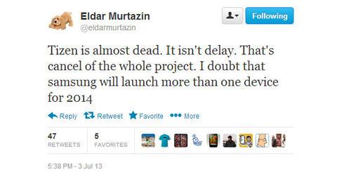 俄羅斯手機爆料王直言 Tizen 系統已死,三星已經終止該項目