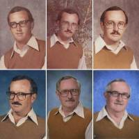 超強的堅持,體育老師穿同一套衣服拍攝校刊照片 40 年