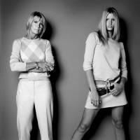 模特兒與媽媽的合拍照片,各有不同風情
