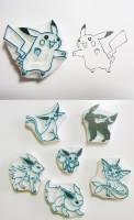 共計 649 隻完全手工雕刻完成的神奇寶貝橡皮章
