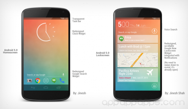 Android 5.0 概念新設計,超炫介面這樣也不錯