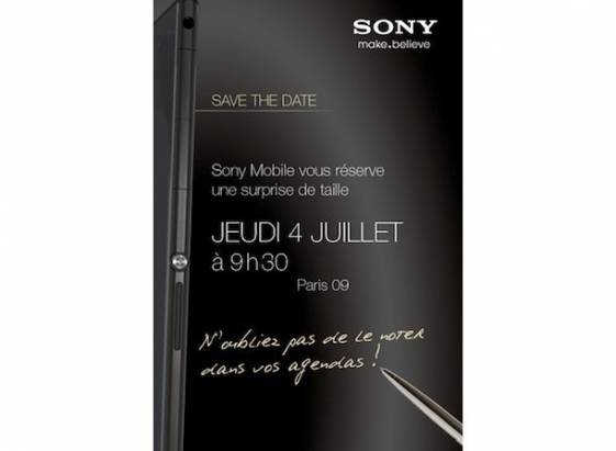 Sony Mobile 發表會邀請預告大尺寸新機,可能是 Xperia Z Ultra?
