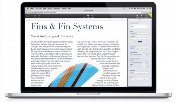 Apple iWork 也登上 iCloud 嚕