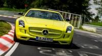 Mercedes-Benz SLS AMG Electric Drive 打破紐伯林賽道的電動車圈速