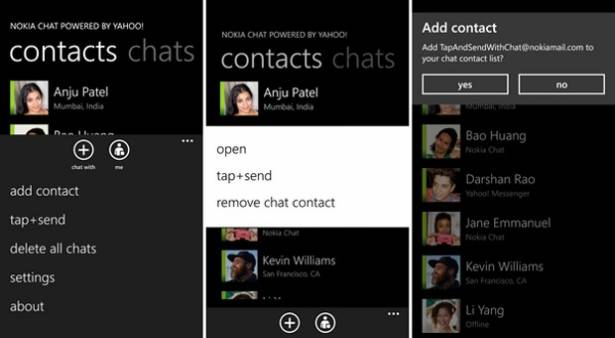 Windows Phone 版 Nokia Chat Beta 升上 1.1,主攻 NFC