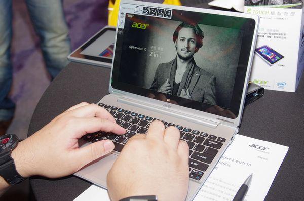 以磁吸創造一加大於二的應用模式, Acer 在台推出 Aspire Switch 10 平板筆電