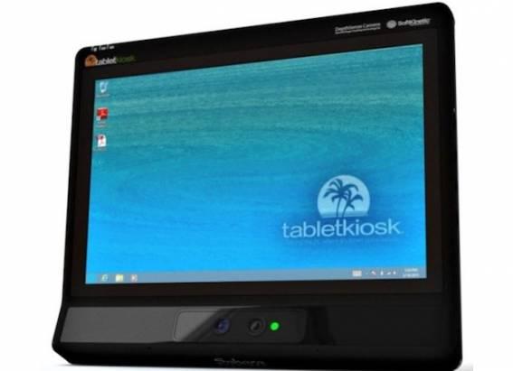 SoftKinetic 與 TabletKiosk 合作開發搭載於平板電腦的 3D 互動介面