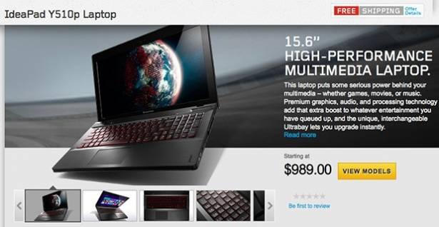 Lenovo 推出 IdeaPad Y510p 高階筆電:Haswell Core i7、NVIDIA 750M、售價 US$989
