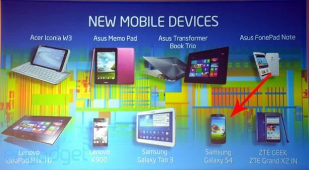 Samsung Galaxy S 4 現身在 Intel 演說的投影片上,有新版本要推出了嗎?(更新)