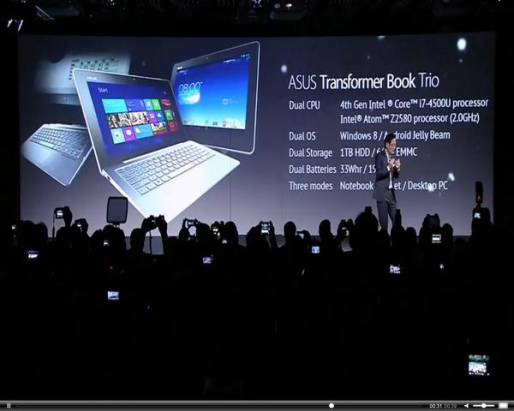 Computex 2013:華碩發表可用 Windows 8 與 Android 雙系統的 Transformer Book Trio