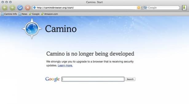 OS X 的 Camino 瀏覽器要榮休了!敬禮!