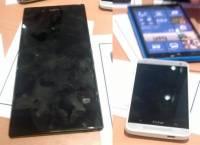 HTC M4 伴隨兩部謠傳中的大螢幕手機 Nokia Lumia 1030 與 Sony Togari 現身洩露照中?