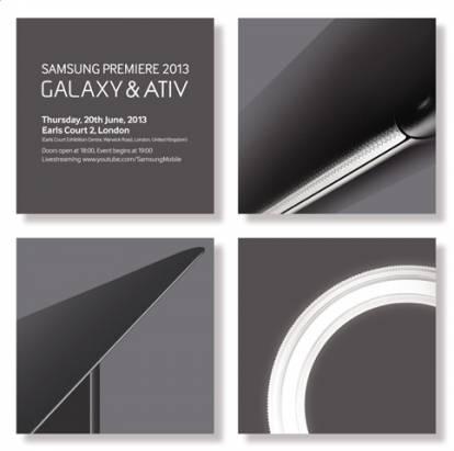 Samsung 預告 6 月 20 日倫敦發表會,新款 Galaxy、ATIV 產品將亮相