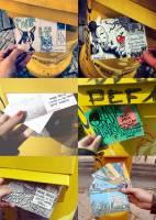 發送郵件的藝術,來自全世界各地的愛心明信片