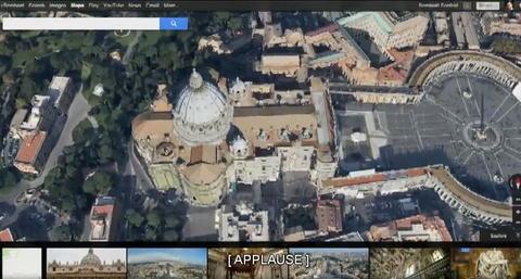 不僅強調個人化與介面美化,瀏覽器版 Google Maps 還融合 Google Earth 的要素
