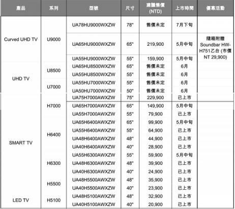 三星黃金曲面 UHD TV 正式在台與一系列智慧電視推出